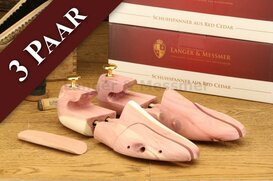 Langer & Messmer 3 Pairs of Cedarwood Shoe Trees Size -...