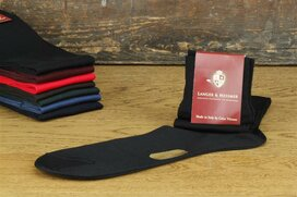 Langer & Messmer Knee-Length Socks Filoscozia Black UK...