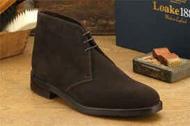 Loake Pimlico Dark Brown Suede Goodyear Welted Rubber Soles