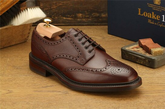 Loake Badminton Dark Brown Goodyear Welted Rubber Soles