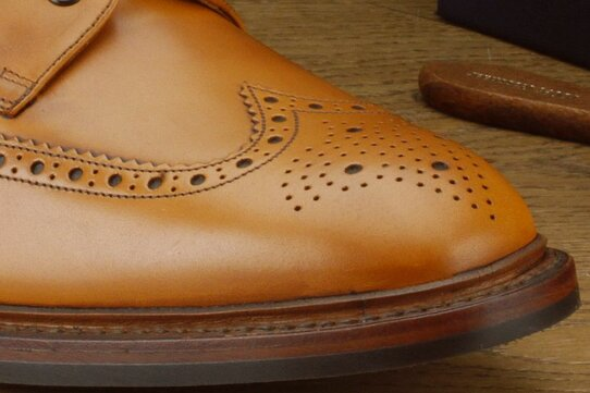 Loake Wolf Tan Goodyear Welted Rubber Soles