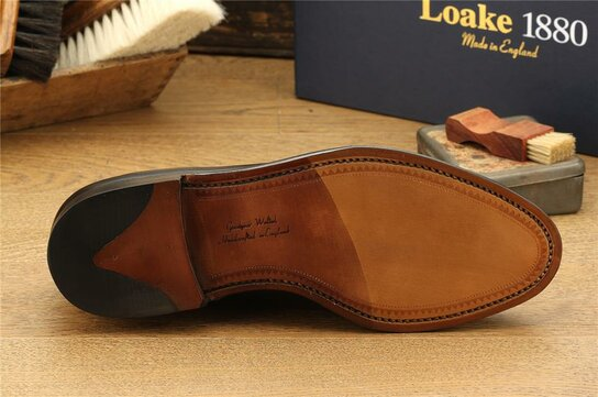 Loake Whitehall Black Goodyear Welted