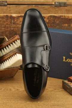 Loake Cannon Black Goodyear Welted