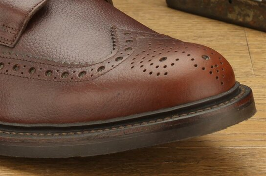 Loake Bedale Bordeaux Goodyear Welted Rubber Soles