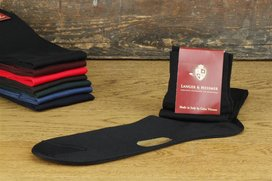 Langer & Messmer Knee-Length Socks Filoscozia Black