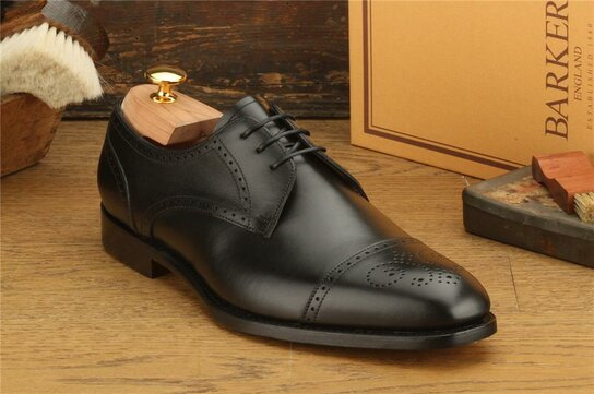 Barker Laycock Black Goodyear Welted