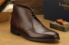Loake Pimlico Dark Brown Size UK 8 Goodyear Welted Rubber...