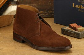 Loake Kempton Brown Suede Size UK 8.5 Goodyear Welted...