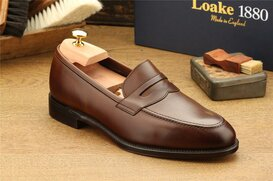Loake Whitehall Dark Brown UK Size 7.5 Goodyear Welted
