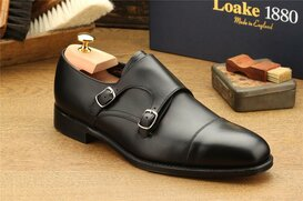 Loake Cannon Black Size UK 9.5 Goodyear Welted
