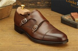 Loake Cannon Brown Size UK 9.5 Goodyear Welted