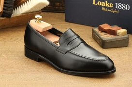 Loake Whitehall Black UK Size 7 Goodyear Welted