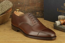 Loake Aldwych Dark Brown Size UK 8.5 Goodyear Welted