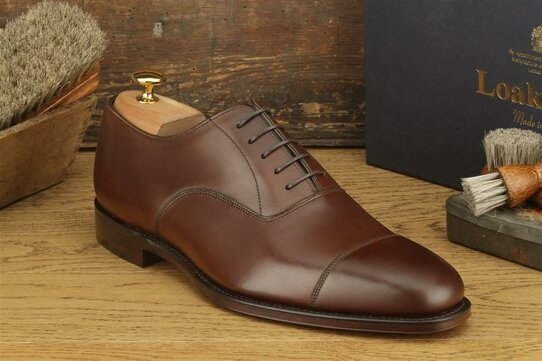 Loake Aldwych Dark Brown Size UK 11 Goodyear Welted