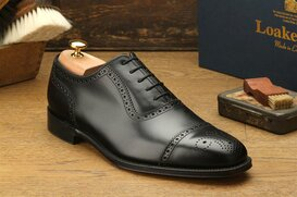 Loake Strand Black UK Size 8 Goodyear Welted