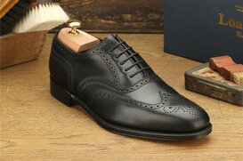 Loake Buckingham Black Size UK 8.5 Goodyear Welted