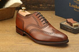 Loake Buckingham Brown Size UK 9.5 Goodyear Welted