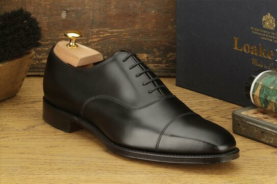 Loake Rothschild Black Goodyear Welted