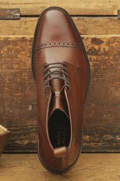 Loake Hyde Dark Brown Goodyear Welted Rubber Soles