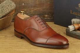 Loake Aldwych Mahogany Size UK 9 Goodyear Welted