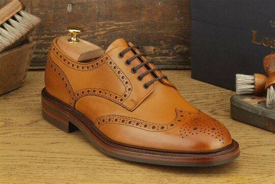 Loake Chester Tan Goodyear Welted Rubber Soles