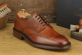 Loake Chester Mahogany Size UK 9.5 Goodyear Welted Rubber...
