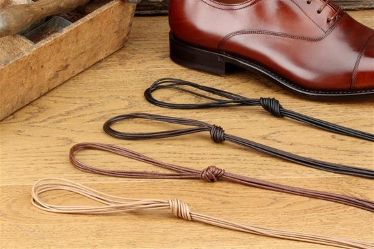 Langer & Messmer 2 Pairs Waxed Cotton Shoelaces Round 75 cm