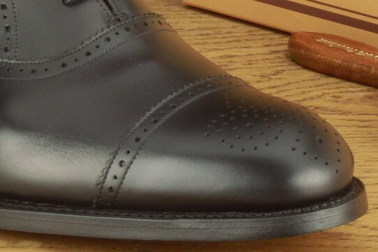 Barker Newcastle Black Goodyear Welted