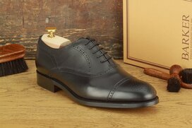 Barker Newcastle Black Size 8 Goodyear Welted