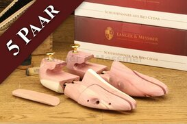 Langer & Messmer 5 Pairs of Cedarwood Shoe Trees Size -...