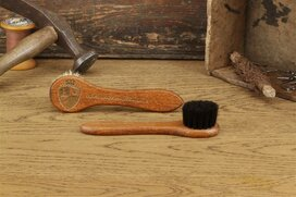 Langer & Messmer Leather Cream Horsehair Applicator Brush