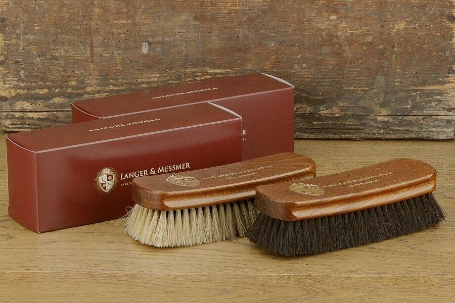 Polishing Brush Made Of Horsehair For Polishing Your Shoes Langer /& Messmer Shoe Brush