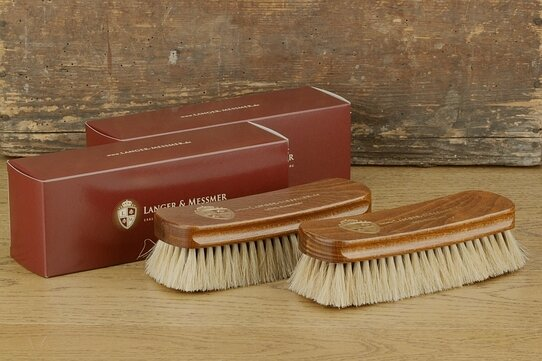 Langer & Messmer Set of 2 Horsehair Cleaning and Polishing Brushes
