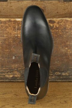 Loake Chatsworth Black Goodyear Welted Rubber Soles