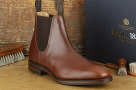 Loake Chatsworth Brown Size UK 9 Goodyear Welted Rubber...
