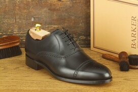 Barker Devon Black Goodyear Welted
