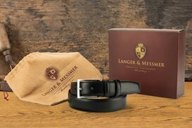 Langer & Messmer Men´s Belt Heidelberg black