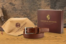 Langer & Messmer Mens Belt Heidelberg Cognac