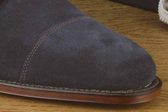 Loake Cannon Navy Blue Suede Goodyear Welted