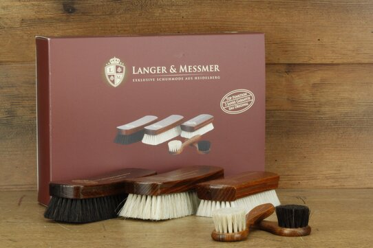 Langer & Messmer Set of 5 Horse and Goathair Shoe Brushes