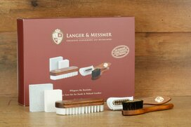 Langer & Messmer Set of 5 Suede Leather Brushes