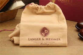 Langer & Messmer Set of 2 Cotton Bags for Shoes