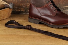 2 Pair Flat Cotton Laces, 125 cm dark brown
