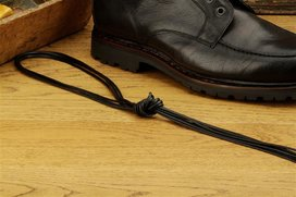 2 Pair Round Waxed Cotton Laces, 110 cm dark brown