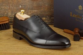 Loake Laxford Black UK Size 7.5 Goodyear Welted
