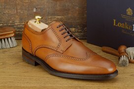 Loake Eden Cognac Goodyear Welted Rubber Soles