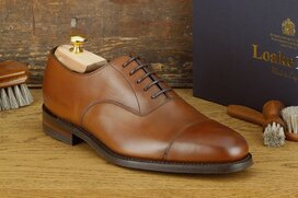 Loake Aldwych Brown Size UK 9.5 Goodyear Welted Rubber Soles