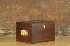 Shoe valet box Munich made of wood (without contents) brown