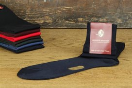 Langer & Messmer Knee-Length Socks Filoscozia Dark Blue...