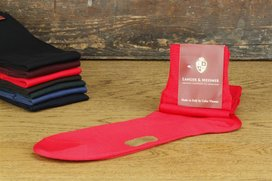 Langer & Messmer Knee-Length Socks Filoscozia Red UK Size...